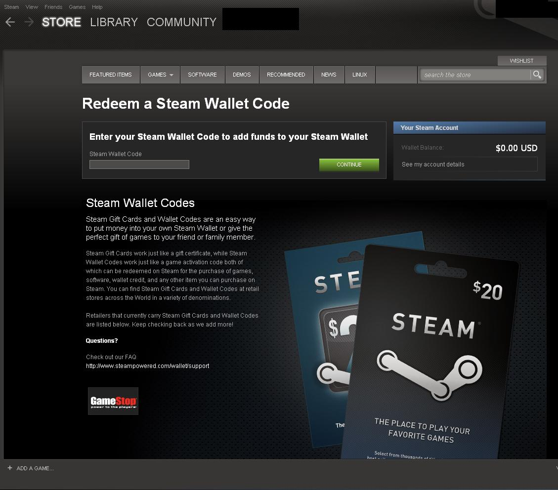 redeem steam wallet code online